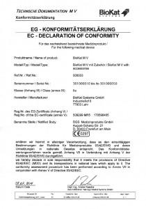 Konformitätserklärung BioKat MV